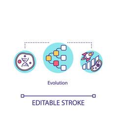 Evolution icon live organism adaptation genes vector