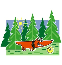 Fairytale fox vector
