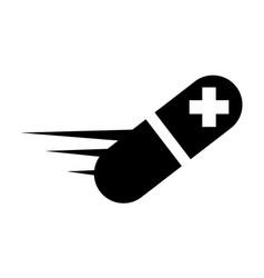 fast capsule healing health vector image