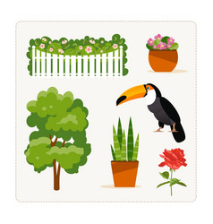 find an extra object plants vector image