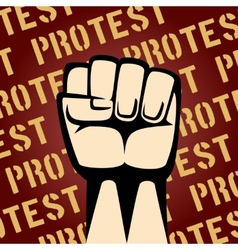 Fist Up Protest Poster vector