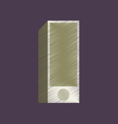 Flat shading style icon subwoofer vector