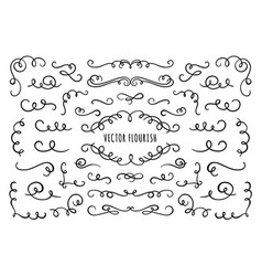 flourish frame corners and dividers decorative vector image