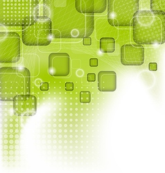 Futuristic set squares abstract green background vector