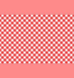gingham red checkered seamless pattern plaid vector image