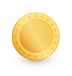 gold coin isolated on white background vector image