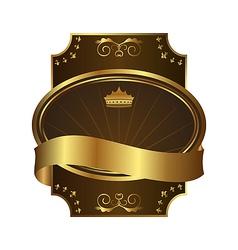 golden royal label on black background with corner vector image