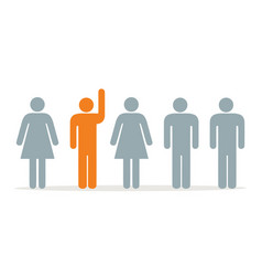 group hands up vector image