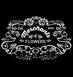 Hand Sketched florist frame vector