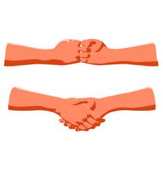handshake as concept human greeting or vector image