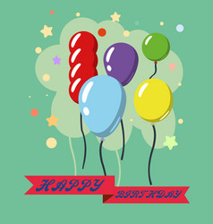 happy birthday design greeting cards vector image