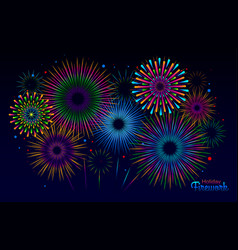 Holiday firework independence day of america vector
