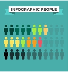 Human icons infographic design elements vector