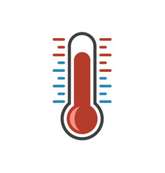 icon color grad cold and hot measuring scale vector image