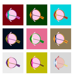 Icons set in flat style human organ eye vector
