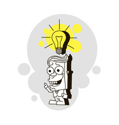 idea and imagination vector image
