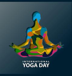 International yoga day vector