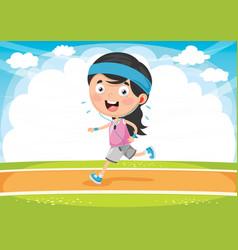 kid running vector image