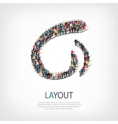 Layout people sign 3d vector