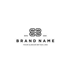 Letter bb logo design template vector