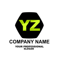 letter logo two letters y and z vector image