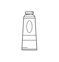 line paint tube icon vector image
