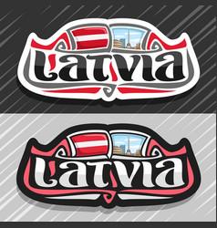 logo for latvia vector image