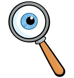 Magnifying Glass With Eye Ball vector image