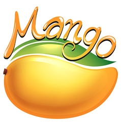 Mango food label on white vector