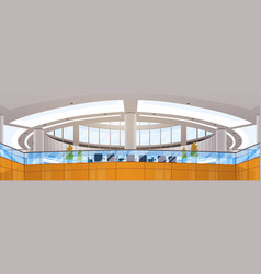 modern business center office building vector image