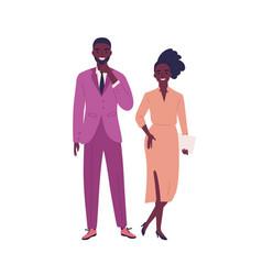 modern young dark skin couple wearing formal vector image