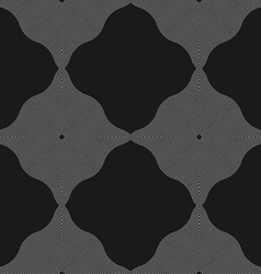 Monochrome pattern with wavy guilloche squares vector