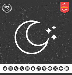 moon stars line icon vector image