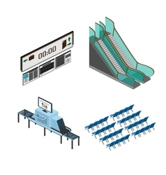 Objects for modeling media airport train station vector