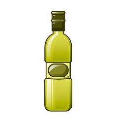 olive oil bottle icon cartoon style vector image
