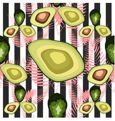 Organic vegetarian avocado seamless repeating vector