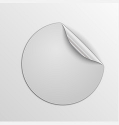 paper round sticker isolated vector image