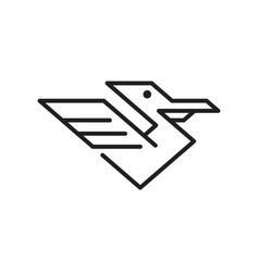 pelican bird logo vector image