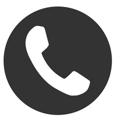 Phone number flat icon vector