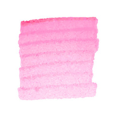 Pink watercolor stain isolated on white background vector