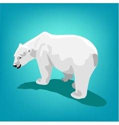 Polar bear on blue background Eps 10 vector