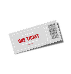 realistic ticket designed for one person cinema vector image