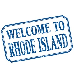 Rhode Island - welcome blue vintage isolated label vector
