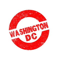 Rubber ink stamp washington dc vector