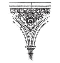 sculptured spandrel from mont saint-michel faith vector image