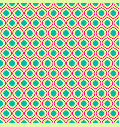seamless geometric pattern on yellow background vector image