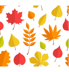 Seamless pattern with autumn leaves vector