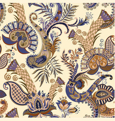 seamless pattern with paisley and vector image