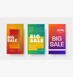 set gradient banners with arrows and 50 vector image