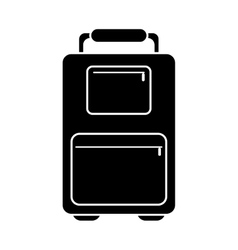 Silhouette suitcase luggage travel handle vector